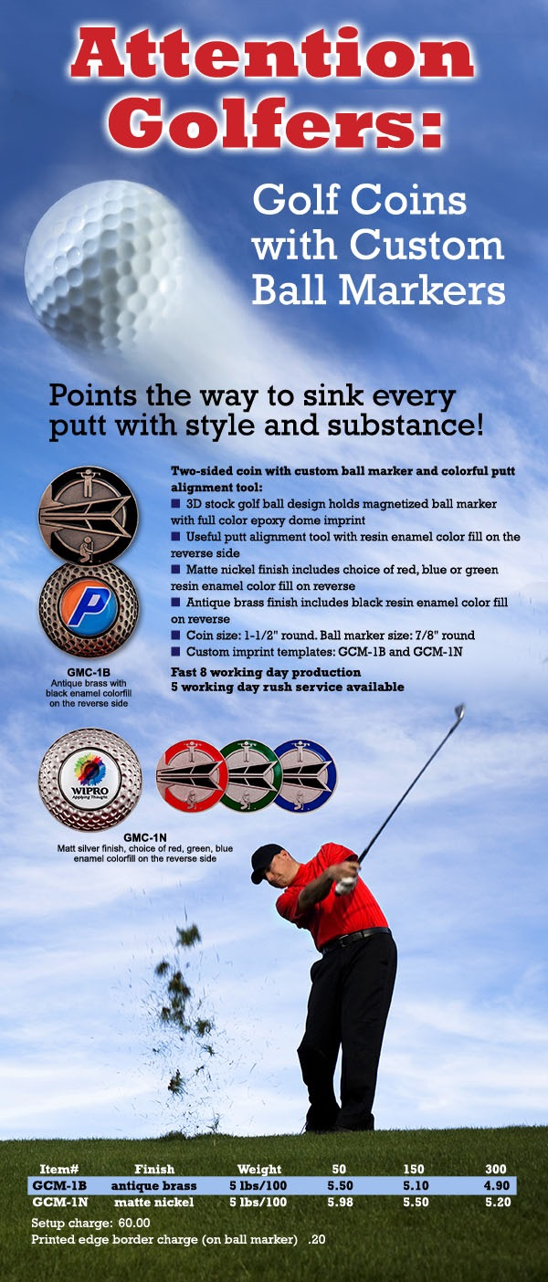 Attention Golfers: EMT's Golf Coins with Custom Ball Markers « EMT Blog